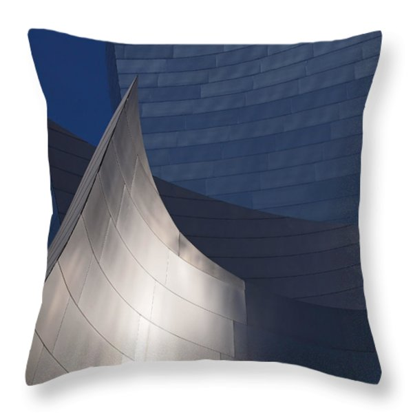 Disney Hall Abstract Throw Pillow by Rona Black