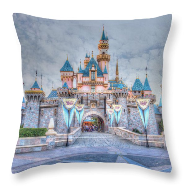 Disney Magic Throw Pillow by Heidi Smith
