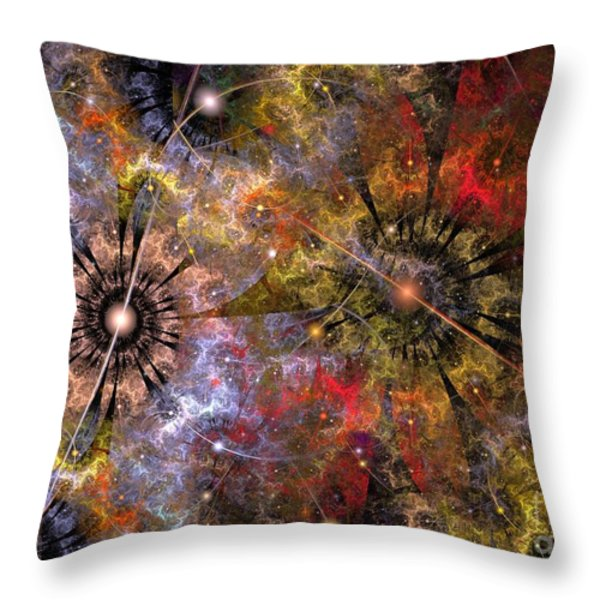 Distant Cosmos Throw Pillow by Svetlana Nikolova