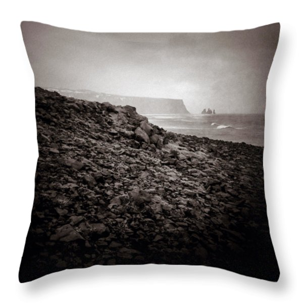 Distant Stacks Throw Pillow by Dave Bowman