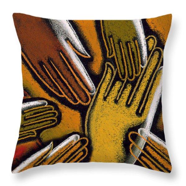 Diversity Throw Pillow by Leon Zernitsky