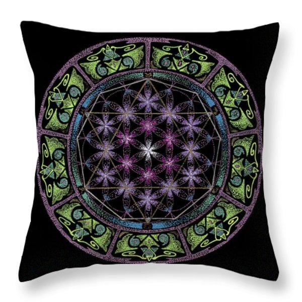 Divine Feminine Energy Throw Pillow by Keiko Katsuta