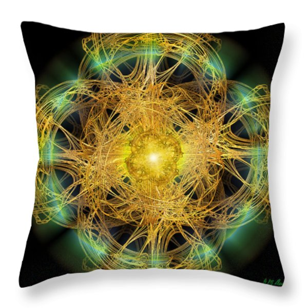 Divine Meditation Throw Pillow by Michael Durst
