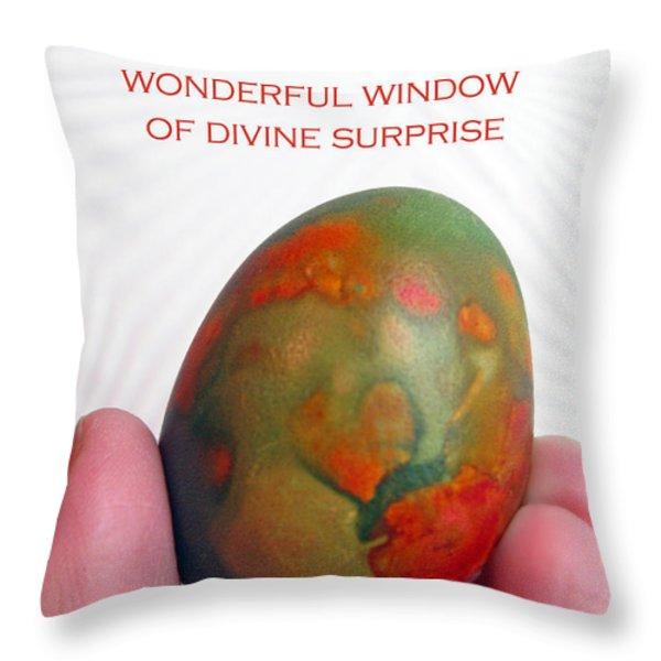 Divine Surprise Throw Pillow by Ausra Paulauskaite