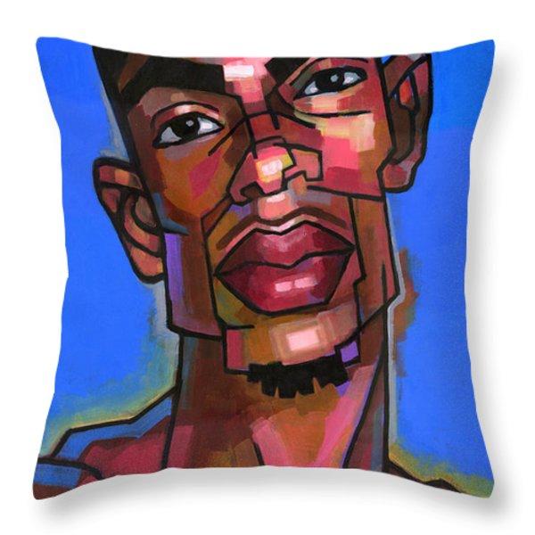 DJ Throw Pillow by Douglas Simonson