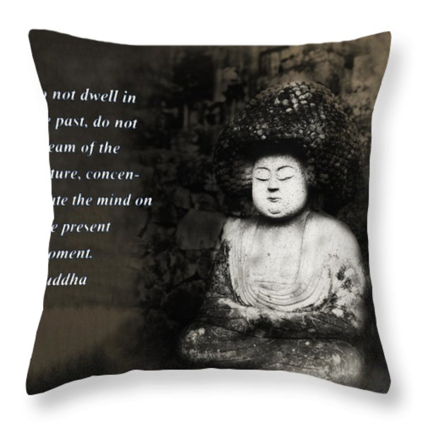 Do Not Dwell in the Past Throw Pillow by Bill Cannon