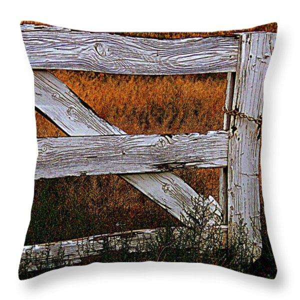 Do Not Enter Throw Pillow by Bobbee Rickard