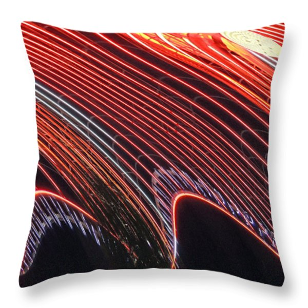 Do The Wave Throw Pillow by Marian Bell