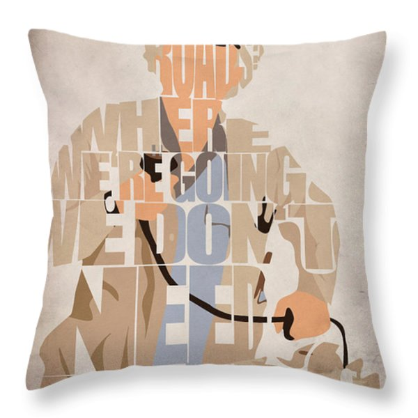 Doc. Brown Throw Pillow by Ayse Deniz