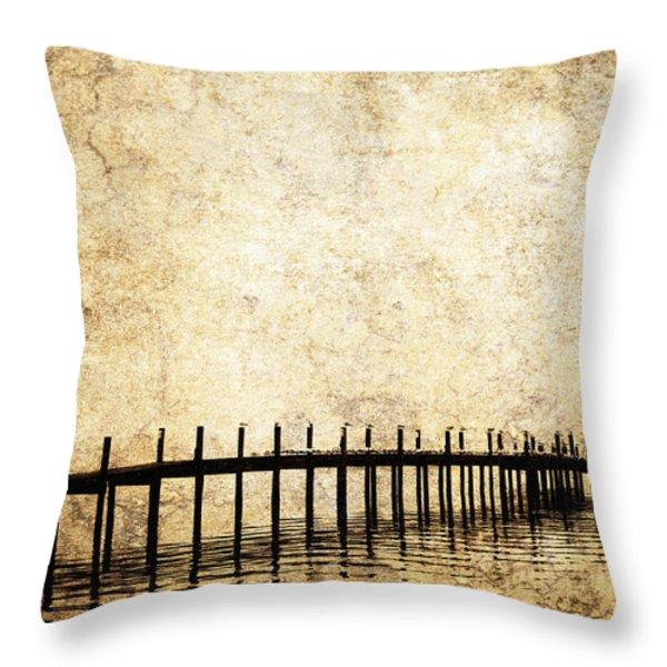 Dock 2 Throw Pillow by Skip Nall