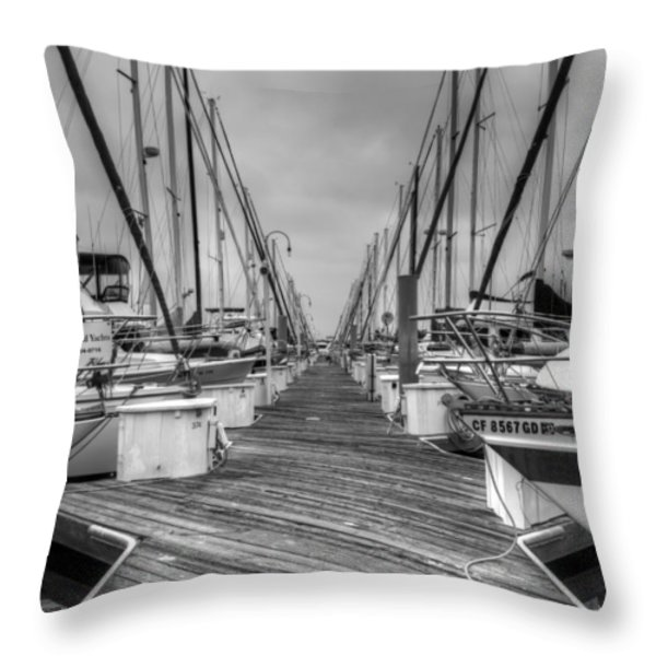 Dock Life Throw Pillow by Heidi Smith