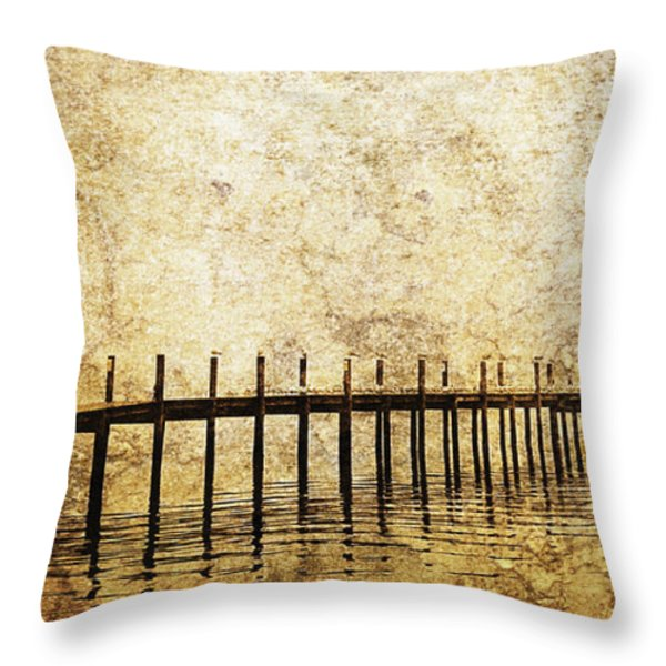 Dock Throw Pillow by Skip Nall