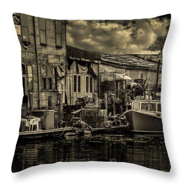 Dockside  Throw Pillow by Bob Orsillo