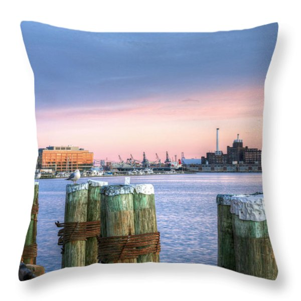 Dockside Throw Pillow by JC Findley