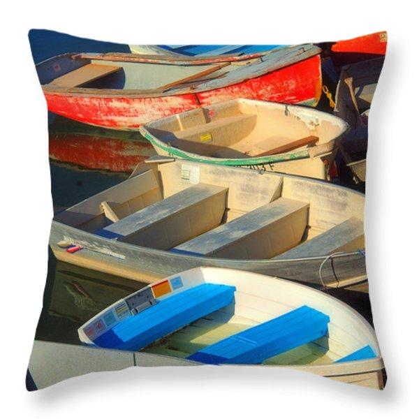 Dockside Parking Throw Pillow by Joann Vitali