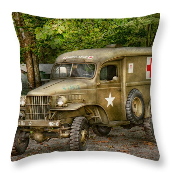 Doctor - Mash Unit Throw Pillow by Mike Savad