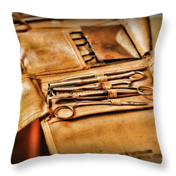 Doctor -  Medical Field Kit Throw Pillow by Paul Ward