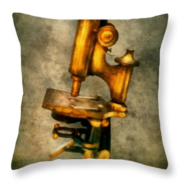 Doctor - Microscope - The start of modern science Throw Pillow by Mike Savad