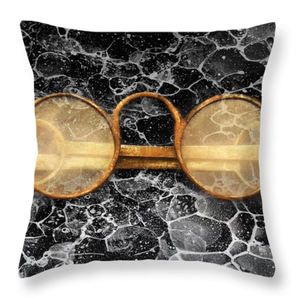 Doctor - Optometrist - Glasses Sold Here  Throw Pillow by Mike Savad