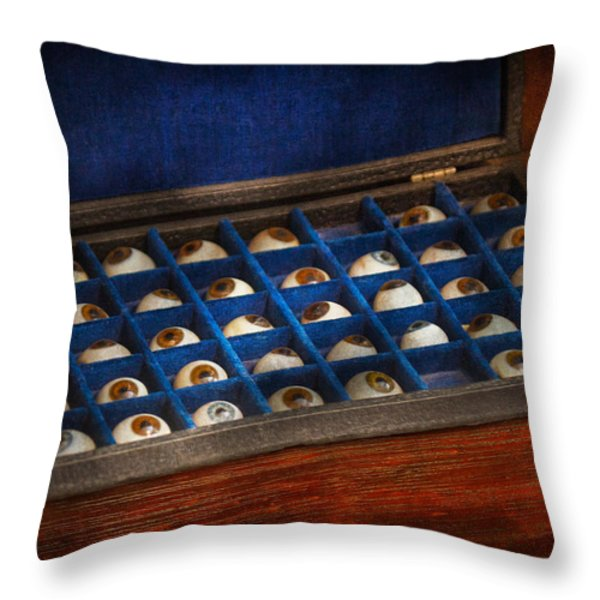 Doctor - Optometrist - I've Always Had Eyes For You Throw Pillow by Mike Savad