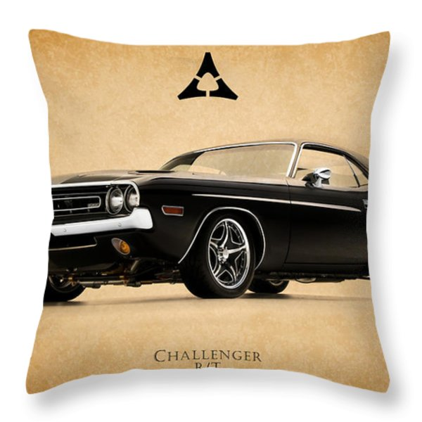 Dodge Challenger Throw Pillow by Mark Rogan