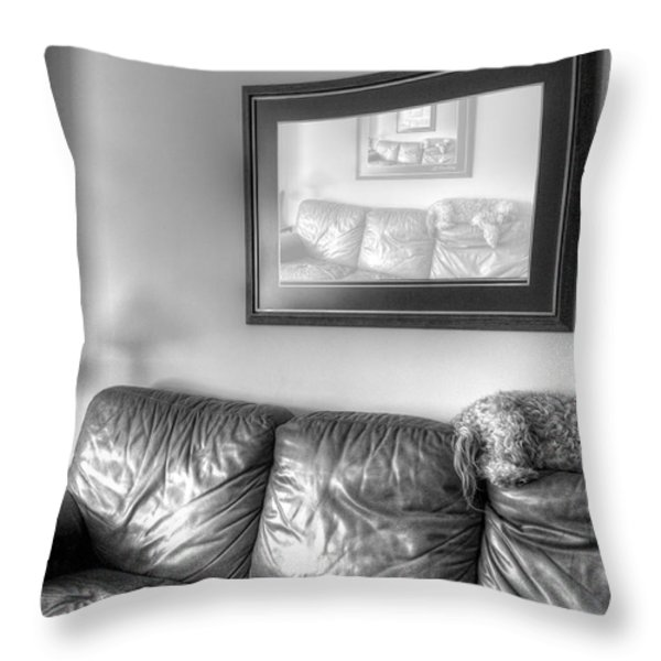 Dog As Art Throw Pillow by JC Findley