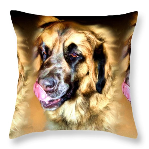 Dog Throw Pillow by Daniel Janda