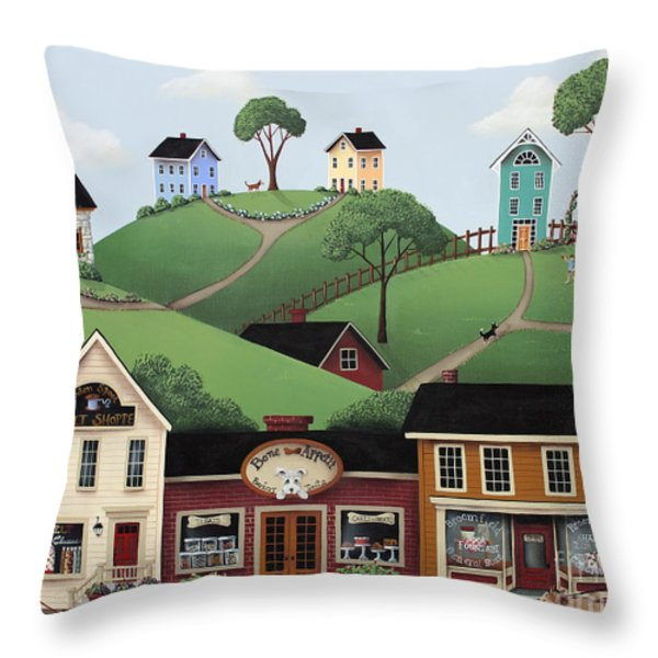 Dog Days of Summer Throw Pillow by Catherine Holman
