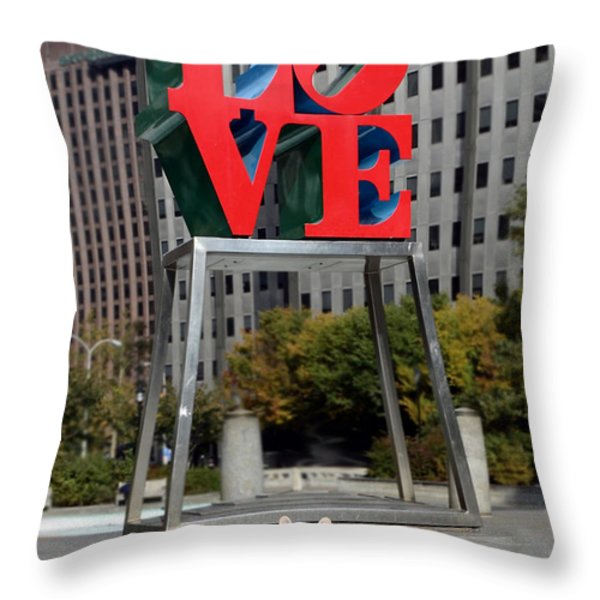 Dog Love Throw Pillow by Lisa  Phillips