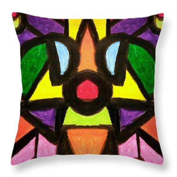 Doggy Days Throw Pillow by Tina  Vaughn