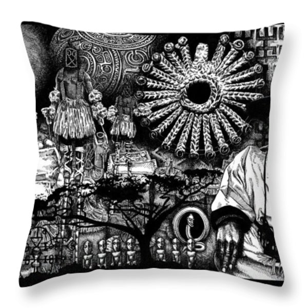 Dogon Dream Throw Pillow by Matthew Ridgway