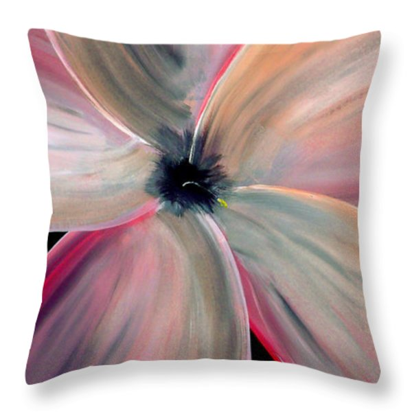 Dogwood Bloom Throw Pillow by Mark Moore
