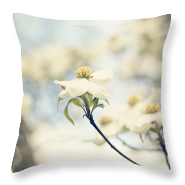 Dogwood No 1 Throw Pillow by Erin Johnson