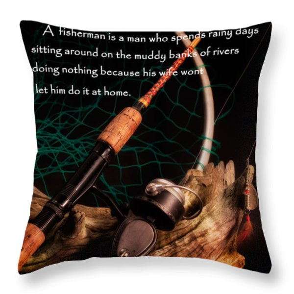 Doing Nothing Throw Pillow by Bill  Wakeley