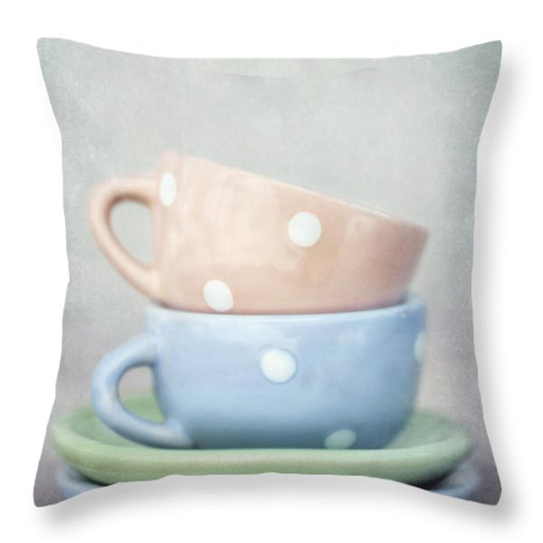 dolls china Throw Pillow by Priska Wettstein