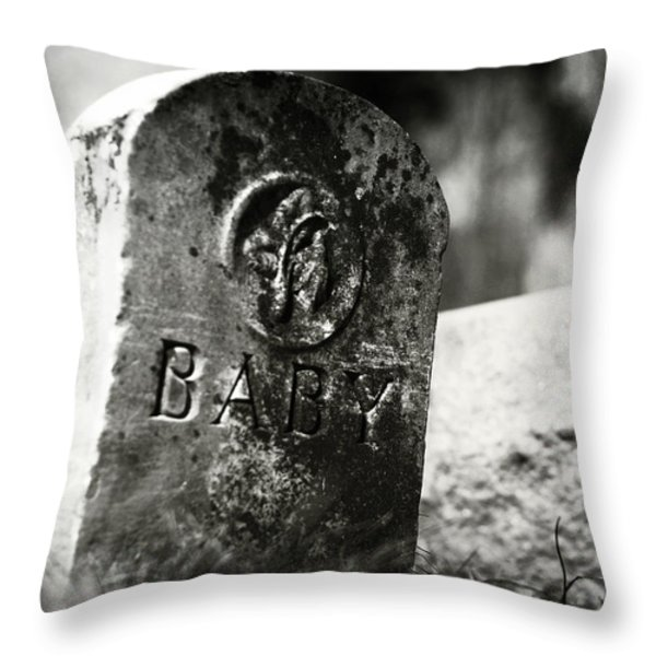Dolls Of Joy And Grief Throw Pillow by Rebecca Sherman