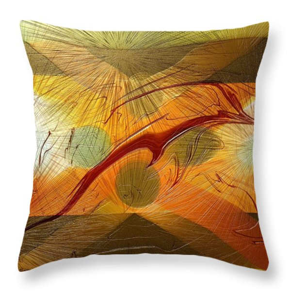 Dolphin Abstract - 2 Throw Pillow by Kae Cheatham