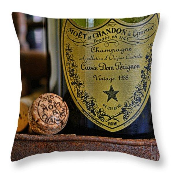 Dom Perignon  Throw Pillow by Paul Ward