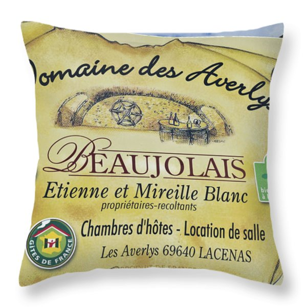 Domaine des Averlys Throw Pillow by Allen Sheffield