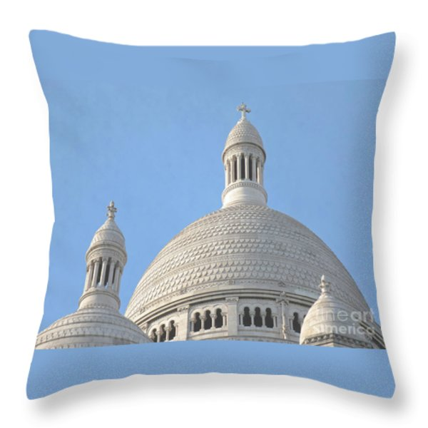 Dome Of Sacre-coeur Throw Pillow by Ann Horn