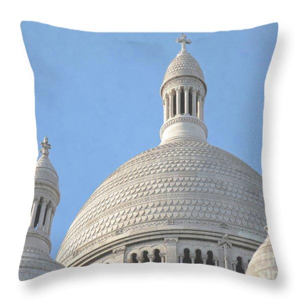 Dome of Sacre-Coeur Throw Pillow by Ann Horn