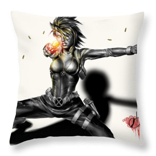 Domino Throw Pillow by Pete Tapang