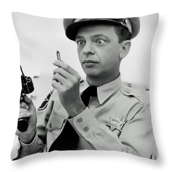 Don Knotts Throw Pillow by Mountain Dreams