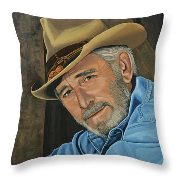 Don Williams Throw Pillow by Paul  Meijering