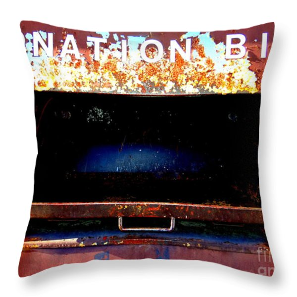 Donation Bin Throw Pillow by Ed Weidman