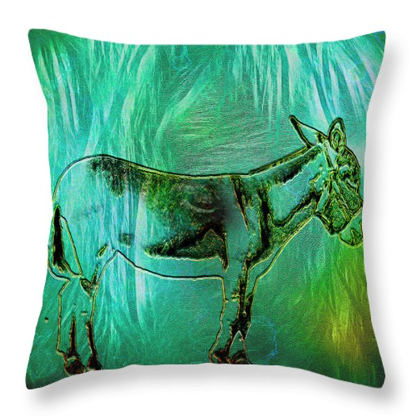 Donkey-featured In Nature Photography Group Throw Pillow by EricaMaxine  Price