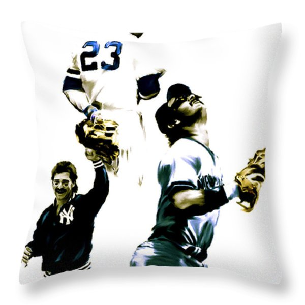 Donnie Baseball  Don Mattingly Throw Pillow by Iconic Images Art Gallery David Pucciarelli