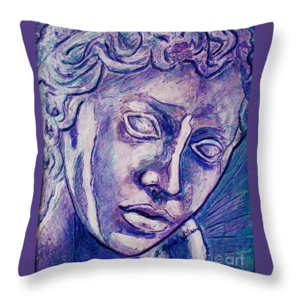 Don't Blink Throw Pillow by D Renee Wilson