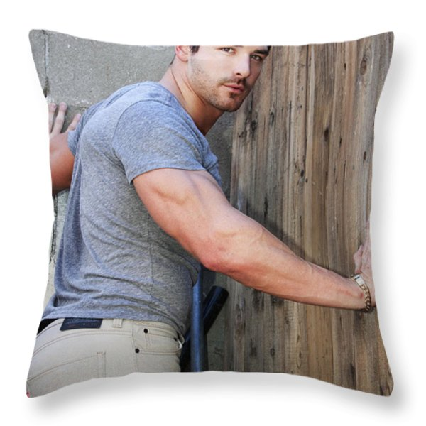 DONT FENCE ME IN Palm Springs Throw Pillow by William Dey