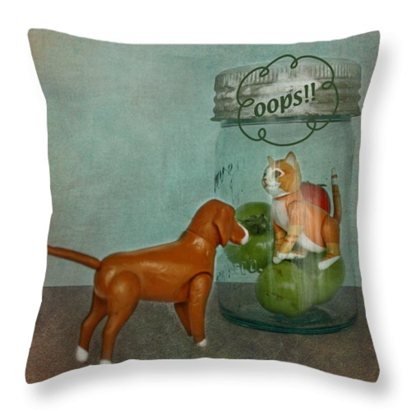 Don't Worry Buddy Throw Pillow by Terry Fleckney